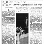 """Complejos, apropiaciones y un aviso, """"El Punto"""", Tomás Paredes, 1992"""