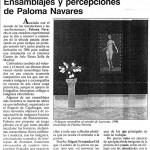 """Ensamblajes y percepciones de Paloma Navares, """"El Punto"""", Tomás Paredes, 1993"""