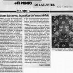 """La pasión del ensamblaje, """"El Punto"""", Tomás Paredes, 1990"""